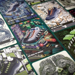 The highly sought after Nike Air Max 95 sneakers just became more collectable on it's 20th anniversary with these exclusive collectable cards, beautifully illustrated by local artists in Hong Kong.