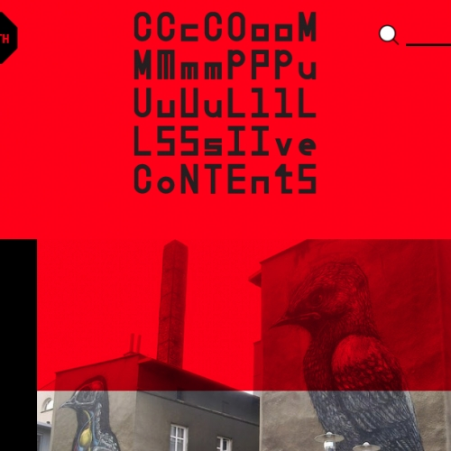 Compulsive Contents - the website for compulsive times. Where art meets society. [Take it all in. Then read the about page.]