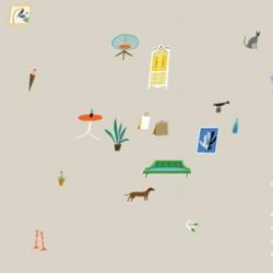 Lena Corwin does this months adorable wallpaper calendar's for design*sponge
