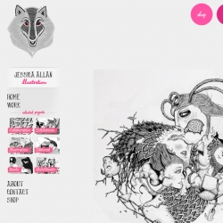 Jessica Allan's new weird and wonderful website is now open to the public. Working and living in London Jessica draws dreamlike creatures with flamed tonguess and beady eyes..