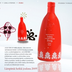 The 2009 edition of the Finnish vintage mulled wine Loimu is out now, check out the nice package design, designed by Jaani Vaahtera of Trust Creative Society.