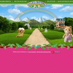 Calico Critters uses an interesting, infinitely looping path to navigate a whimsical environment of adorable characters and videos.