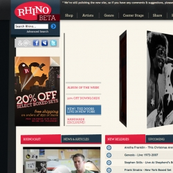 Rhino Records got a brand new look & a cool new site (that sells HIGH-DEF downloads too).  My favorite label is back!