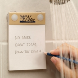Aqua Notes ~ some day my dream hotel will have customized versions of these in the shower, and at bathtub height.