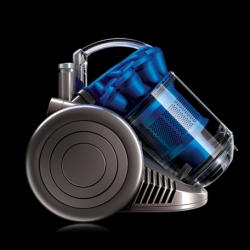 Dyson DC26 Wood + Wool is an ultra-compact cylinder vacuum cleaner with the performance of a big vacuum. Fits on an A4 sheet of paper.