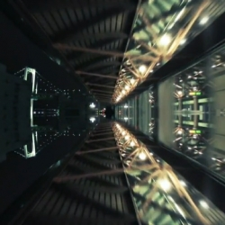 Tokyo Sky Drive is a beautiful video traveling through mirror image Tokyo.