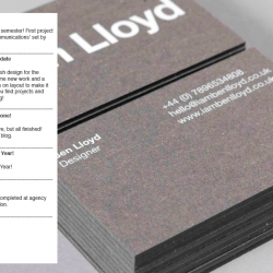 Some nice projects and creative work by designer Ben Lloyd. A lovely diverse mix of advertising and conceptual projects. Really like the business cards on recycled stock seen on the landing page and in the archive section.