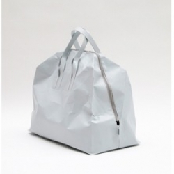 """A collection of """"papier"""" bags from Saska Diez made from a synthetic paper that is lightweight, waterproof and tear-proof."""