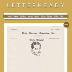 Letterheady ~ awesome blog of letterheads!