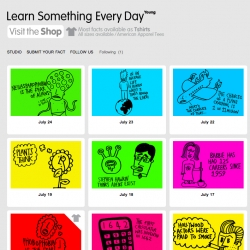 """A funny approach to the concept of """"learning something new every day""""."""