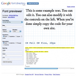 Google Font Directory ~ live previewing of fonts!