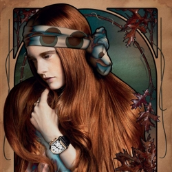 """""""Temp Nouveau"""" an exquisite shoot showcasing watches that incorporates the ornate and floral stylings of Art Nouveau posters."""