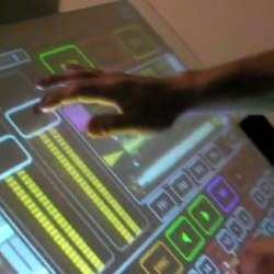 Another Multitouch DJ experiment, this one based on Native Instruments' DJ software called Traktor. The multitouch platform used is called Emulator.
