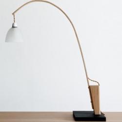 Nice steam bent ash lamp called 'Snowdrop' by British designer Jonathan Tibbs.