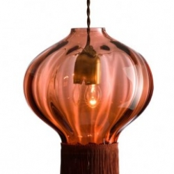 Old school new cool. Vintage-slash-contemporary blown glass lamps by London designers Victoria Rothschild & Mark Bickers.