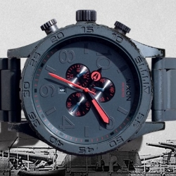 Nixon Gunship collection has a uniquely applied finish designed to wear increasingly with age, resulting in a piece who's scars reveal a hidden character all its own.