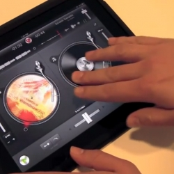 With Apple now allowing all iPad apps to directly access music in the Itunes music library, Algoriddim shows us what the future of djing might look like
