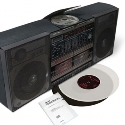 Great packaging of the new Graf Orlock LP - the packaging folds into a full size boombox.