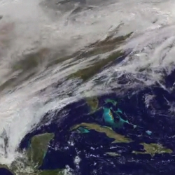 U.S. Snowstorm Seen From Space -  captured By NASA - awesome video!