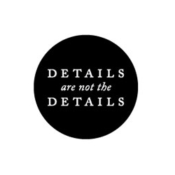 Details are not the Details, a new blog about design and the visual world.