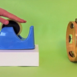 How to play a tambourine with cellophane tape and more in their 'Experiments Around the House' video from Lullatone.