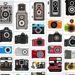 100 pixelated camera illustrations free to download and use.