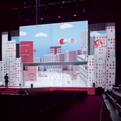 Klip Collective produced a 3D video mapped projection for Target's 2011 National Meeting Show Opener. Click through for video.