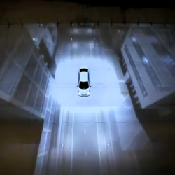 Great physical spot by Hyundai for the Accent, utilizing 3d image projection mapping. 'New Thinking. New Possibilities'.