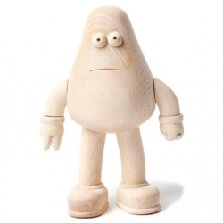 James Jarvis' Amos Toys releases their YOD toy character in a limited wooden edition.