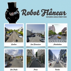 Robot Flaneur ~ another James Bridle project, allowing you to travel/navigate the world by strolling through Google Street View.