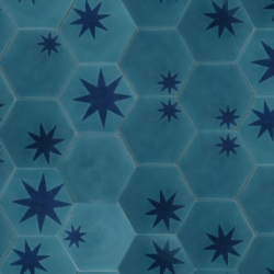 Fun hex star tiles by popham design