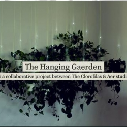 The Hanging Garden that asks for water, with the help of moisture sensors and Arduino. When a plant needs water, the LED corresponding to that specific plant switches on. By The Clorofilas & Aer studio.