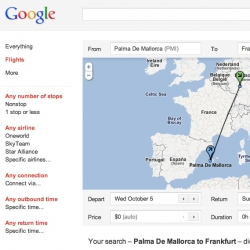 Google Flight search is a feature that helps you explore air travel options for a number of cities, and plan your trip with just a few clicks of the mouse.