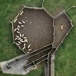 The aerial series by photographer John Crawford feels like an ode to humans being a very small part of an infinitely larger context.