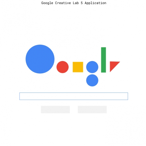Google Creative Lab launches an interactive application for the Five, a one year, paid program. Each year, the lab award five spots for a writer, designer, filmmaker, developer, and a wild card. What will you make?