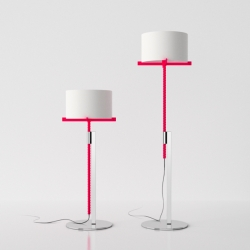 """Screw me"" from Jonathan Rowell is, like the name indicates in the literally sense of the phrase, a lamp that can be screwed into the right height and position. Love the clean and playful design!"