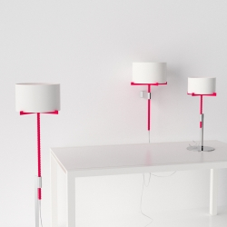 Screw Me is a lighting concept by recent Art Center graduate, Jonathan Rowell. A simple twist of the threaded post allows the lamp body to adjust up and down.