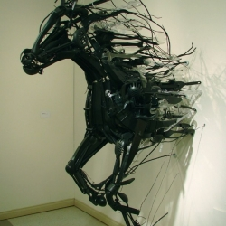Amazing sculptures created with reclaimed materials by japanese sculptor Sayaka Kajita Ganz.
