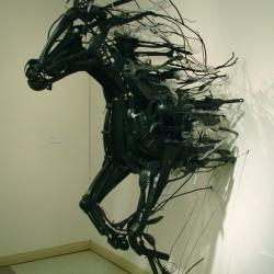 Amazing sculptures created with reclaimed materials by japanese sculptor Sayaka Kajita Ganz.