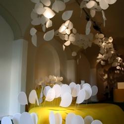 Italian designer Ilaria Marelli presented two installations (The Secret Garden &  Micro Macro) for the summer edition of Pitti Immagine Fashion shows.