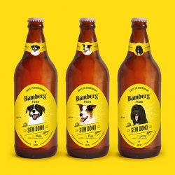 Sem Dono Beer is a collaboration between Bamberg Brewery and charity Adote um Focinho, created to encourage pet adoption.