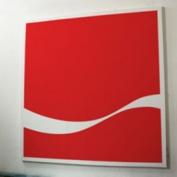 You Took My Name - A series of paintings that strip famous logos back to their basic graphic forms.