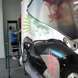 Featured HOLISTICA™ exhibition at the Honda Advanced Design Studio gallery in Oldtown Pasadena! Life-size renderings of four personal mobility vehicles, plus an advanced spacesuit! Animations now viewable online!