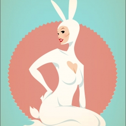 As it's the season of chicks and bunnies, found this highly limited edition print by Stan Chow from CIA that kills two birds with one stone.