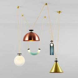 Ladies & Gentlemen Studio debut second edition Shape Up Chandelier at OFFSITE during New York Design Week.