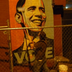 Shepard Fairey unveiled a new Barack Obama image last night in Washington DC...