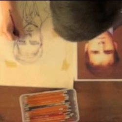 This is a still from a Documentary of  Danny Roberts Illustration Process.