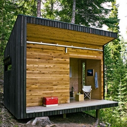 This 130 sq ft shelter is built in the wilderness near Joseph, Oregon. Signal Shed is designed by Ryan Lingard Design in collaboration with Greg Morrow and Sons Inc.