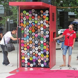 Sing! Karaoke Kiosk is a multilingual karaoke booth designed by Urban Republic Arts Society.