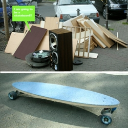 Skateboard Do it yourself, inspired by the amount of waste produced due to  growth of consumerism in Europe